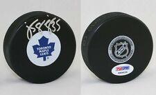 Jean Sebastian Giguere SIGNED Toronto Maple Leafs Logo Puck PSA/DNA AUTOGRAPHED