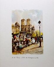 Notre Dame le Bouguenais,  Paris, France, Watercolor Print