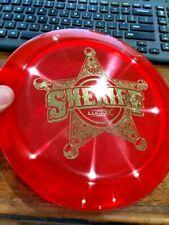 DYNAMIC DISCS LUCID X SHERIFF DISC GOLF DRIVER RED/GLD 175G ~LSDiscs