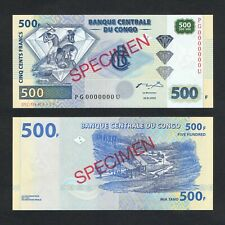 2002 CONGO DEMOCRATIC REPUBLIC 500 FRANCS P-96As UNC> > >DIAMOND VALLEY SPECIMEN