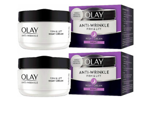 Olay Anti-Wrinkle Firm And Lift Anti-aging SPF 15 night Cream 50ml (PACK Of 2)