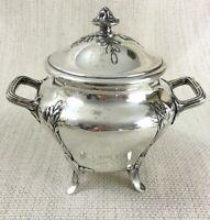 Antique Christofle Silver Plated Sugar Bowl Jar Pot Gallia French Art Nouveau
