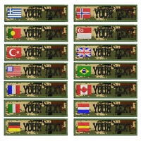 Custom Military embroidery Name Patch Camouflage Army Green patches US flag