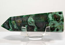 "3.4"" Green Fuchsite Wand Polished Gemstone Tower Mica Quartz Mineral Point Stick"