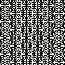 Wallpaper New Retro Mid Century Modern Black and White Scroll