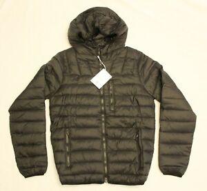 Bershka Men's Puffer Jacket With Hood SV3 Black Size XS NWT