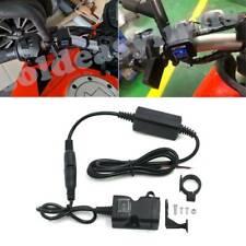 12-24V Waterproof Dual USB MotorCycle Handlebar Charger Socket w/ Switch & Mount