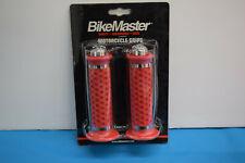 BikeMaster Ringer Motorcycle Grips - Red - Fits 7/8 diameter bars    LP-1