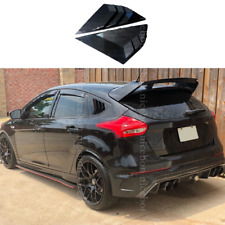 fit for Ford Focus ST RS Hatchback Carbon fiber color Window Side Louvers Vent