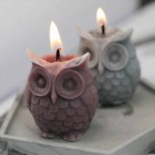 3D Owl Candle Silicone Making DIY Handmade Resin Molds Animal Plaster Wax Mould