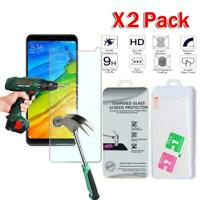 X2 Pack Tempered Glass Screen Protector Cover For Xiaomi Redmi Note 5 AI Dual Ca