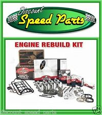 1968-69 SBC Chevy 327 Engine Rebuild Kit Flat Tops DR Timing Chain HV Oil Pump