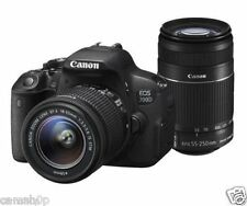 Canon EOS 700D 18MP DSLR Camera (Black) with 18-55mm IS II & 55-250mm Lens