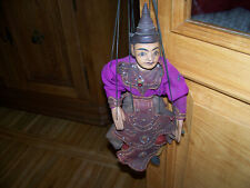 alte Marionette,  aufwändig verzierte Kleidung 40 cm
