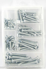 200 ASSORTED MACHINED CROSSHEAD NUTS & BOLTS IN A VARIETY OF SIZES