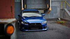 "Blue Mitsubishi Evolution Lancer Car Mini Poster 13""x19"" HD"