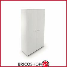 Mobile da Ufficio h 170 cm con Chiave Alto Bianco Serratura Armadio Contenitore