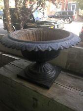 Antique Cast Iron Pedestal Flower Planter Victorian Rare