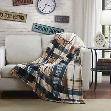 Soft Winter Cabin Super Flannel Striped Tartan Plaid Checkered Throw Bed Blanket