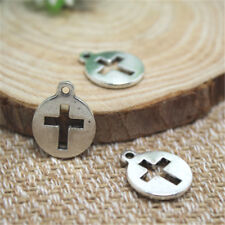 20pcs Silver tone Cross Charms Pendants, DIY Supplies, Jewelry Making 17x15mm