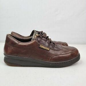Mephisto Brown Leather Caoutchouc Air Bag System Lace Shoes Men's US 10.5