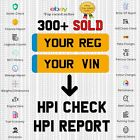 Full Vehicle Car Check Vin Hpi Report Stolen Accident Damage Finance Salvage ✅