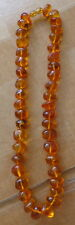 Antique Natural  Cograc Baltic Amber Beads Necklace  #6