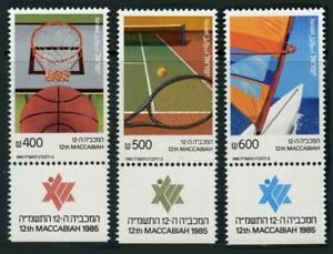 Israel: 1985 Maccabiah Games (910-912) With Tabs MNH