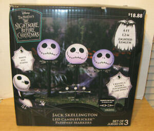Nightmare Before Christmas Jack Skellington LED CandleFlicker Pathway Markers