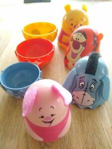 Winnie the Pooh Nesting Dolls Cups Weeble Style Eeyore Piglet Tigger Disney Tomy