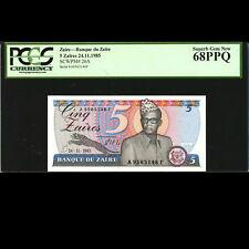5 Zaires 1985 Zaire P 26a P26a unc Set Of 10 Banknotes Notes