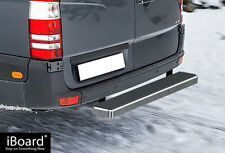 iBoard Rear Step Bar 5 inches Silver Fit 10-18 Dodge Mercedes-Benz Sprinter