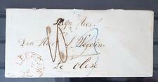 *** BRIEF 1856 VAN LEERDAM NAAR CLEVE(DUITSLAND) VIA EMMERICH ***