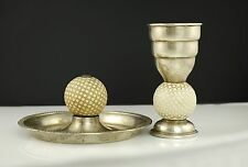 Sterling Golf Set Shot Measure & Ashtray Frank M Whiting - Golf Golfing Golfer