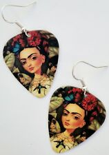 DAY OF THE DEAD FRIDA KAHLO GUITAR PICK EARRINGS! DIA DE LOS MUERTOS GOTHIC ART