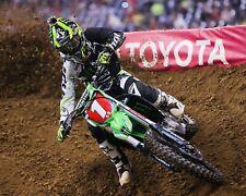 Ryan Villopoto Motocross Kawasaki Rider Color 8x10 Photo #1