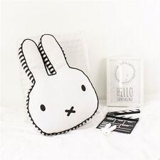 15.8'x10.63' Small Miffy Bunny Rabbit Stuffed Plush Cushion Dots Black White