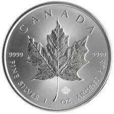 2014 CANADA MAPLE LEAF PRIVY MARK $5 FIVE DOLLAR SOLID .9999 SILVER 1oz COIN #E