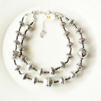 New Premier Designs Beads Dual-Strands Necklace Gift Vintage Women Party Jewelry