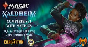 Magic MTG - KALDHEIM - Complete Set With Mythics + BONUS & UPGRADES - CARDTITAN