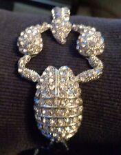 "Stunning Austrian Crystal Lobster Bracelet in Silvertone 7"" - 9"" Summer Fun! Nwt"