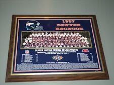 Super Bowl XXXII Photo Plaque ELWAY DAVIS SHARPE 1997 Denver Broncos