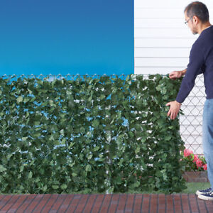 5' x 7' Beautiful Faux Ivy Privacy Porch Fence Screen