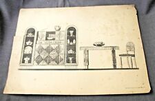 1920s ART DECO FRENCH FURNITURE MOBILIER FRANCAIS DESIGNS PRINT MOREAU PARIS  3