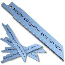 "5pcs KENT RS422BF  4"" Bi-Metal 14TPI Flexible Reciprocating Saw Blades For Metal"
