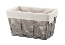 """Small Tapered Basket 10"""" x 6"""" Twisted Paper Rope"""