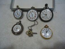 Vintage pocket watch lot , pennant , ladies , work / parts / repair