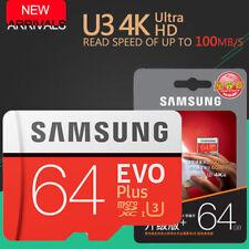 Samsung EVO Plus 64 Go GB Carte mémoire Micro SD SDXC Classe 10 TF 4K 100 Mo / s
