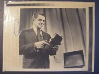 AP Wire Press Photo 1977 Dr Edwin H Land Founder of Polaroid Corp New Camera