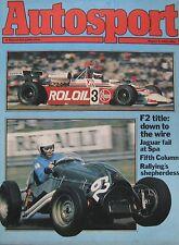 AUTOSPORT magazine 5/8/1982 featuring Colt Starion Turbo road test